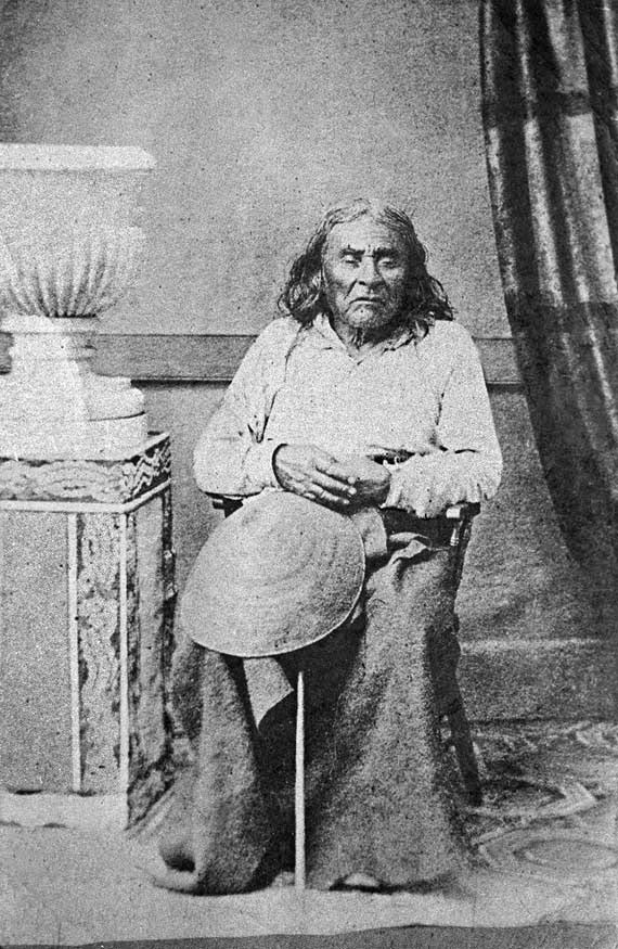 Jefe Seattle de la tribu de los Suquamish, piel roja.
