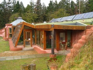 Image of the Earthship at Stanmer Park in Brighton, UK
