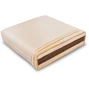 Colchón de látex natural y fibra de coco fabricado por Baumberger.
