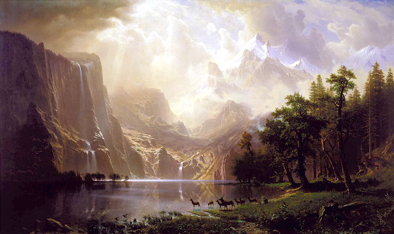 Bierstadt - Among the Sierra Nevada Mountains_-_1868