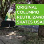 Original columpio reutilizando skates usados