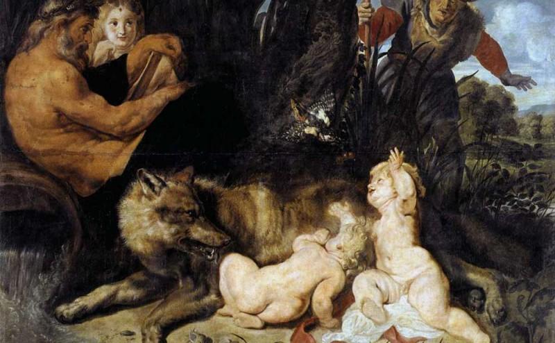 Rómulo y Remo pintado por Rubens Peter Paul