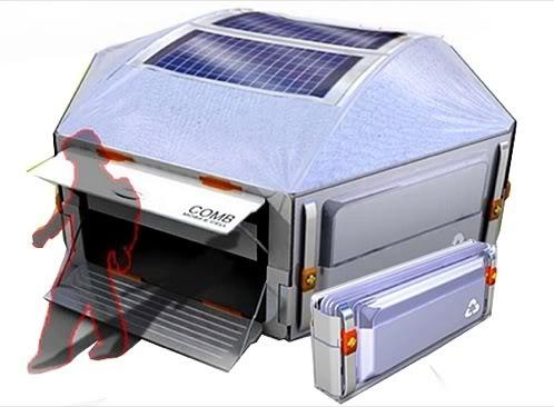 tienda de campaña solar Honeycomb