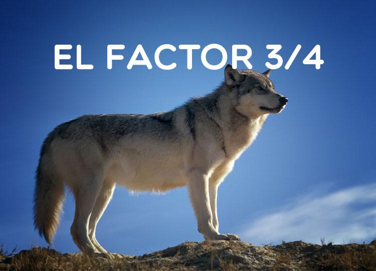 El factor 3/4 en la naturaleza