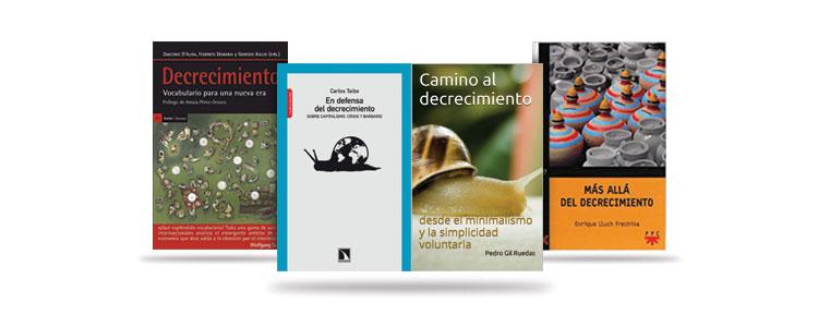 Libros en Amazon sobre decrecimiento