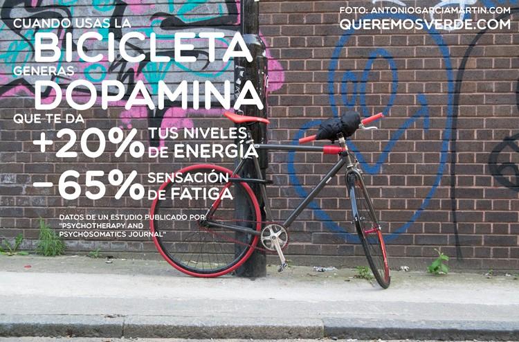 Montar en bicicleta hace que generemos dopamina y nos sintamos mejor.