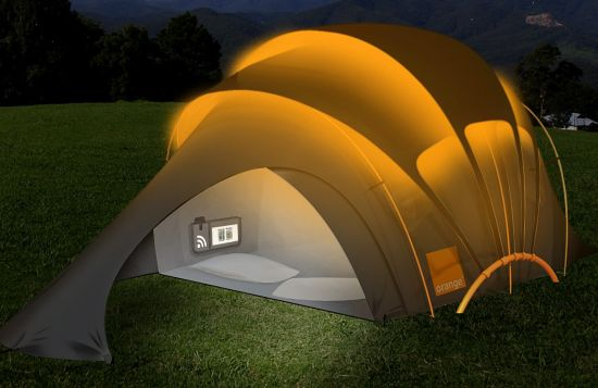 Concepto Orange solar Tent
