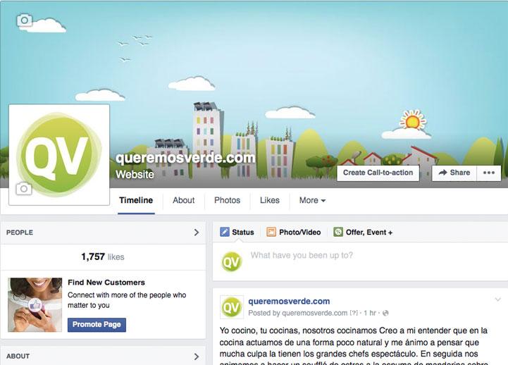 queremosverde.com crece. Estrenamos foro y página en Facebook.