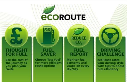 consumo, conducción eficiente, gps ecológico, ecoroute